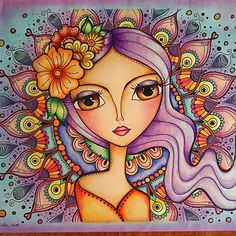 69 New Ideas for drawing ideas mermaid faces Art And Illustration, Naive Art, Whimsical Art, Mandala Art, Doodle Art, Cute Art, Folk Art, Art Drawings, Canvas Art