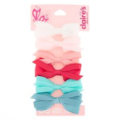 Shop Claire's for the latest trends in jewelry & accessories for girls, teens, & tweens. Find must-have hair accessories, stylish beauty products & more. Ribbon Hair Bows, Girl Hair Bows, Bow Hair Clips, Girls Bows, Bow Headbands, Claires Bows, Jojo Siwa Bows, Little Girl Toys, Preppy Look
