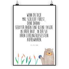 Poster DIN A3 Otter mit Stein aus Papier 160 Gramm  weiß - Das Original von Mr. & Mrs. Panda.  Jedes wunderschöne Poster aus dem Hause Mr. & Mrs. Panda ist mit Liebe handgezeichnet und entworfen. Wir liefern es sicher und schnell im Format DIN A3 zu dir nach Hause.    Über unser Motiv Otter mit Stein  Die wunderschönen Otter von Mr. & Mrs. Panda sind wirklich etwas ganz Besonderes und natürlich mit besonders viel Liebe handgezeichnet.    Verwendete Materialien  Es handelt sich um sehr…