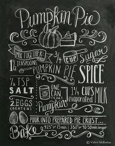 Pumpkin pie sign-you should have this on your kitchen shelf!
