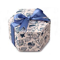 블루보태니컬 육각 상자