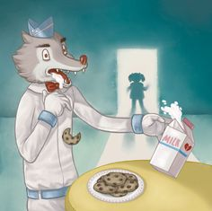 She got locked up and made a plan To kill the bad wolf ice-cream man He ordered her to make him snacks Her cookies and milk made him collapse