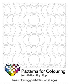 Pop pop pop, colour 'til you drop... Pattern number 29 of over 200 free colouring pages. Pattern Coloring Pages, Free Coloring Pages, Color Activities, Free Printables, Arts And Crafts, Doodles, Kids Rugs, Pop Pop, Zentangles