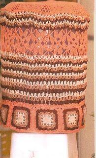 Artesanatos em Crochê Vanda: CAPAS DE GALÃO DE ÁGUA EM CROCHÊ COM GRÁFICOS