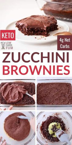 These keto zucchini brownies are super moist. They combine both almond flour and coconut flour into a rich and fudgy low carb brownie. Keto chocolate frosting makes them extra indulgent.
