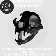 BOSTON! This Saturday Pop Allston will be going down right after the record store day at Brighton Music Hall! Head over for oddities clothing more vinyl vintage low brow art and goods and BEER!  This is the night market from 2pm-8pm so swing by and chill! We'll be post up in the basement slinging patches and whatnot some new items will be there too!  During the day come support @orchardshop with there crazy 2nd floor FREE indoor skatepark and @popallston has tons of vintage arcade games…
