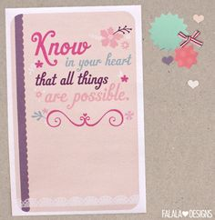 know in your heart...<3  (printable)