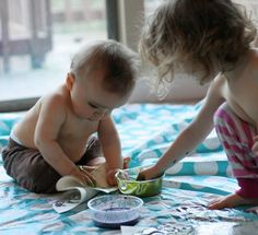 Homemade Baby Paint using Natural Dyes