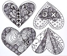 Free Zentangle How To Patterns | Using your watercolor pencils or paint, color in your designs.