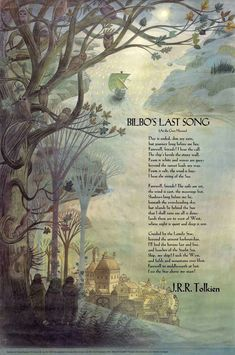 Pauline Baynes' Illustration of Bilbo's Last Song