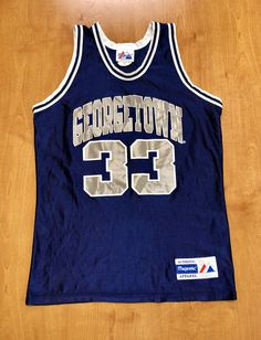 68c578f0 Vintage 1992 Alonzo Mourning Georgetown Hoyas Jersey Size XL champion  starter dikembe mutombo saxa allen iverson hornets heat nba
