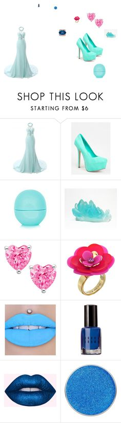 """""""little sisters elsa"""" by kittykatlove69 ❤ liked on Polyvore featuring Breckelle's, Eos, Kate Spade, Jeffree Star and Bobbi Brown Cosmetics"""