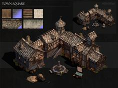 Town Square by BoChicoine on DeviantArt