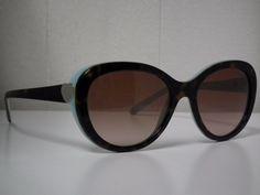 Authentic Womens Tiffany&Co TF4113 8134/3B Havana/Tiffany Blue Sunglasses-$270