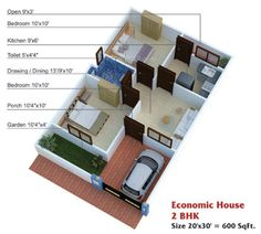 600 Sq Ft House Plans 2 Bedroom Indian Style Home Designs