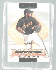 Nelson Castro Donruss 1992 Rookie Baseball Card San Francisco Giants #sfgiants #SanFranciscoGiants