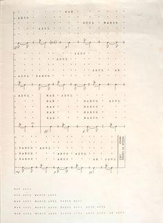 O Instituto De Arte Contemporânea selecionou um partitura de verbalização do poema MAR AZUL de Ferreira Gullar feita por #WillysdeCastro, em março de 1957, para comemorar o #MusicDay2017 na #MuseumWeek .  #MusicMW #iac #institutodeartecontemporânea #sp #BA #timebelasartes #muba #acervo #fundo #música #partitura #sãopaulo #art #arte #diadamúsica #poema #FerreiraGullar — em São Paulo