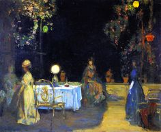 Night In The Garden In Spain - Charles Conder