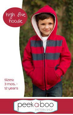 (http://www.peekaboopatternshop.com/high-five-hoodie/) $6.75 new pattern