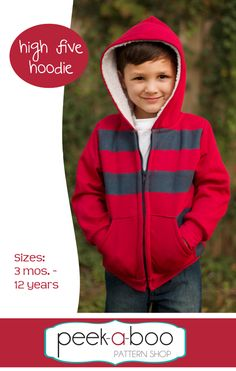(http://www.peekaboopatternshop.com/high-five-hoodie/) $6.75 new pattern