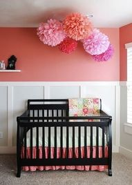 Pom Pom's Above Crib !