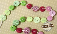 Cute button necklaces, some with stamped embossing on to give dimension.  2 great styles to try.