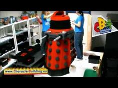 time lapse video of Dalek being built