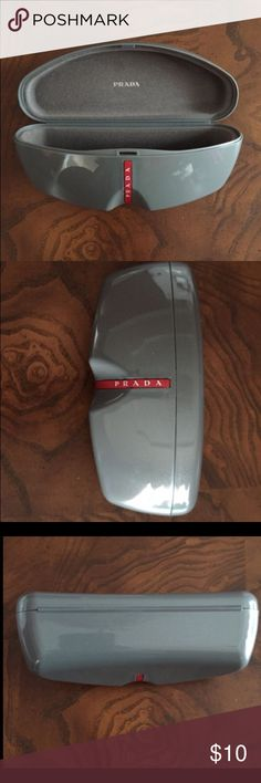 Prada case for shades and glasses This case came with Prada shades but, wasn't used to store them.  It's hard outside and soft inside.  Large enough for men's or women's glasses or shades. Prada Accessories Glasses