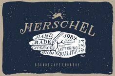 "betype: ""Herschel Font by Decade Type Foundry. Herschel is a unique hand drawn serif, Inspired by the natural imperfections that occur in traditional sign writing, Herschel introduces an element of. Hand Lettering Fonts, Typography Letters, Typography Design, Herschel, Retro Design, Vintage Designs, Graphic Design, Type Design, Graphic Prints"