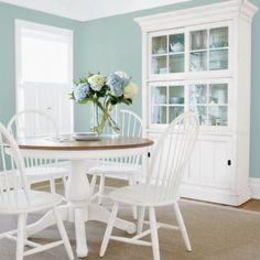 Clean & simple dining room with a vintage feel, by Ethan Allen