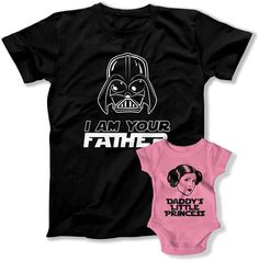 I am your Father I am your daughter t-shirt and baby grow vest set.