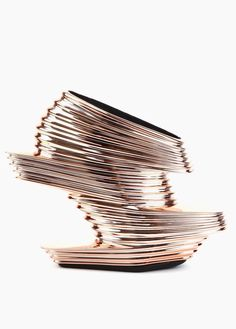 These are so strange, but I still love them! NOVA SHOE ROSE GOLD by Zaha Hadid X United Nude
