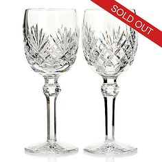 439-057 - Waterford Crystal Tinsley Set of Two 6 oz Red Wine Glasses