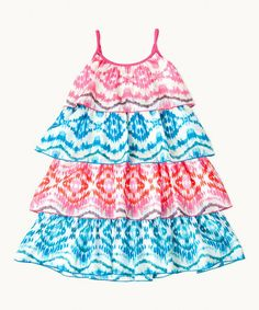 Another great find on #zulily! Turquoise & Pink Sunrise Party Dress - Toddler & Girls #zulilyfinds
