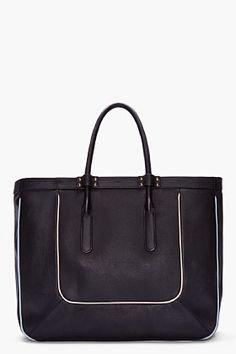 Chloe Black Leather Tote Bag for Women | SSENSE