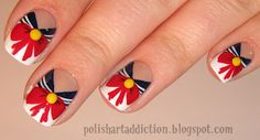Sailor Moon Uniform nail art: polishartaddiction.blogspot.com
