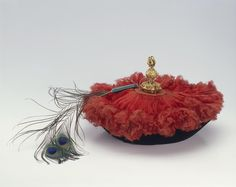 Hat of an official | China | 19th century | velvet, untwisted silk, brass & peacock feather | The Hermitage | Inventory #: ЛТ-8194