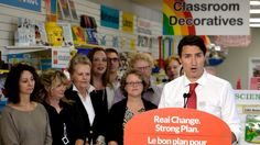 Liberal Leader Justin Trudeau's plan would give teachers 15 per cent back on up to $1,000 of their own money spent on classroom supplies.