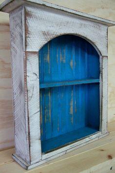 Shabby style wall shelf primitive wall by LynxCreekDesigns on Etsy, $129.99