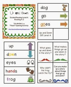 Classroom Freebies: Guided Reading: Up and Down