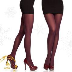 Burgundy is the most trendy colour of the season #antie #antiewear #burgundy #tights #legwear
