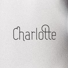 Charlotte, a simple text font. coming soon