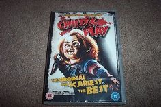 CHILD'S PLAY UK DVD NEW/SEALED INFAMOUS HORROR CHUCKY DOLL 3.99 £ ehdottomasti haluan nämä kaikki Chucky nukke leffat, hahmot plus muut siihen liittyvät jutut :)