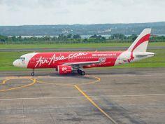Air Asia Airbus A320 at Ngurah Rai Airport, Denpasar, Bali