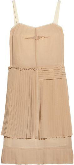 Love this: Pleated Chiffon Dress @Lyst