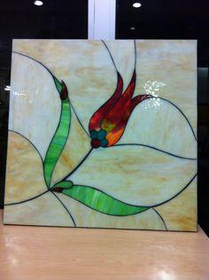 60x60 renkli camdan vitray kesim ile mdf üzerine duvar panosu by Hilal Taşcı Üğütgen