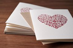 KEYS TO MY HEART (hand mixed ink printed on a 1938 Chandler and Price letterpress) by Noteworthy Press - Beaumont, CA