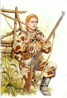 Soviet female sniper,1943 - pin by Paolo Marzioli