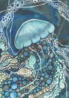 """""""Whorl -  Jellyfish"""" by Tamara Phillips."""
