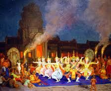 The Khmer Dances at Angkor-Vat - by Jean Despujols - c. 1937 - Friends of the Algur Meadows Museum of Art at Centenary College in Shreveport, LA Giving Tuesday, Angkor, Brush Strokes, Art Museum, Join, Dance, Concert, Friends, Cambodia